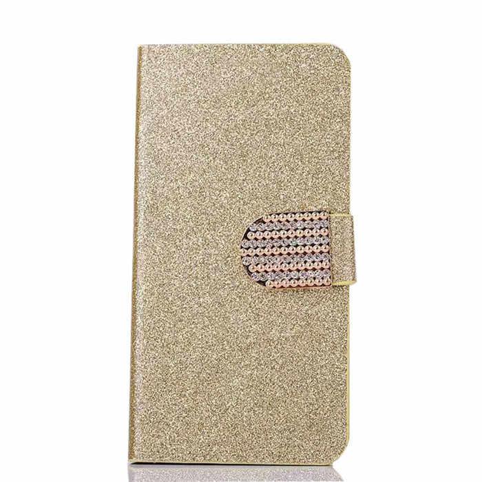 Luxury Bling Lật PU Leather Bìa Trường Hợp Cho Samsung Galaxy Ace S5830i GT S5830 Gt-S5830i Bảo Vệ Đầy Đủ Bìa Gốc