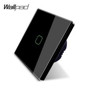 Image 2 - Wallpad K3 Capacitieve 1 Gang 2 Way Intermediate Touch Op Off 4 Kleuren Glas Panel Muur Elektrische Lichtschakelaar Voor uk Eu