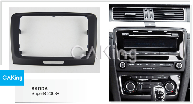 Skoda Rapid Roomster Fabia Octavia SINGLE//doble DIN CONVERSIÓN KIT de molduras Facia