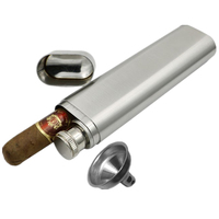 Mini Hip Flasks 2 Oz Multi Function Stainless Steel Hip Flask With Portable Wine Cigar Pipe