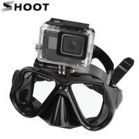 Gopro Diving Mask Goggles Diving Scuba Snorkel Swimming Tempered Glasse For Gopro 4 3 Xiaomi Yi