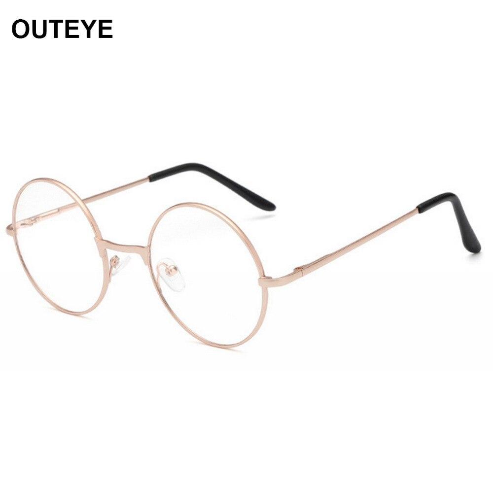 Unisex Vintage Round Reading Glasses Metal Frame Retro ...