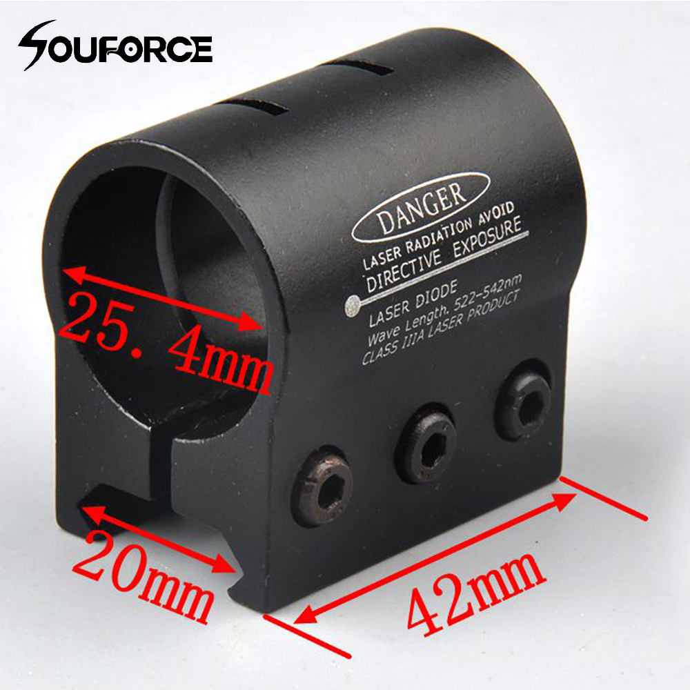1pc 25.4mm Ring 20mm Weaver Picatinny Rail Mount For Flashlight Laser Sight Scope