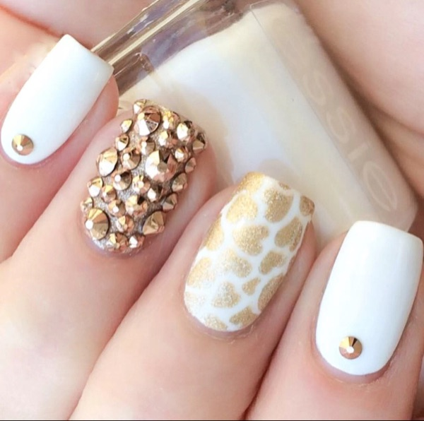 Gold strass nail art jewelry crystal rhinestone nail design gold strass nail art jewelry crystal rhinestone nail design rhinestones for nails nailart manicure decoration ongle mjz1002 in rhinestones decorations prinsesfo Image collections