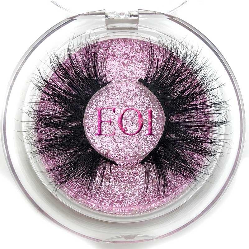 Big Sale¶Mikiwi Makeup Label Mink-Eyelashes Custom-Packaging Dramatic Wholesale 25mm Round-Case>