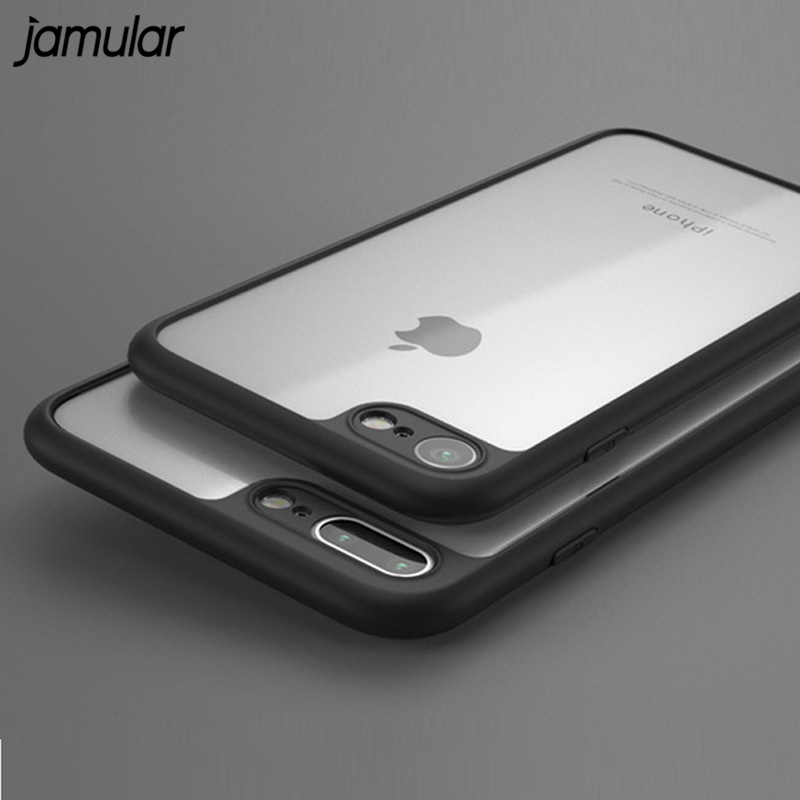 JAMULAR For iPhone 6 6s Case Transparent Phone Cases for iPhone X XS MAX XR Soft Silicone Protective Cover For iPhone 7 8 Plus