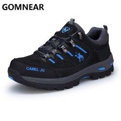 GOMNEAR Men Hinking Sneakers Outdoor Fishing Trekking Tourism Non-Slip Comfortable Sports Shoes Men Comfoetable Black Boots