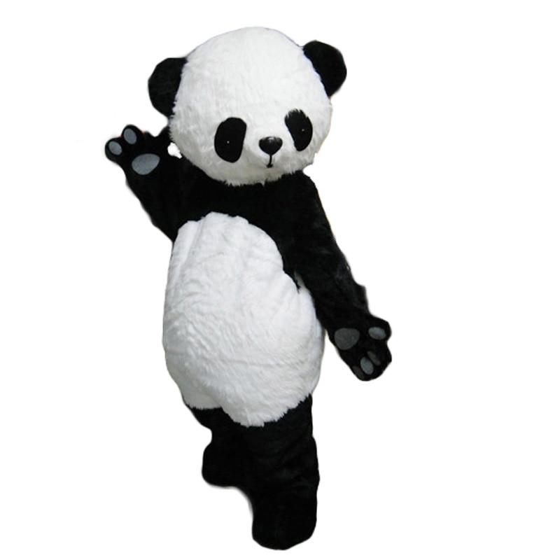 Adulte taille nouvelle version chinois géant Panda mascotte costume fantaisie cosplay costumes pour Halloween fête événement