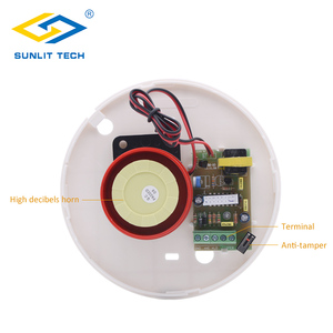 Image 3 - 2pcs/Lot 12V Mini Indoor Wired Horn Siren High Quality ABS Housing Wired Hooter Home Security Sound Alarm Strobe System 110dB