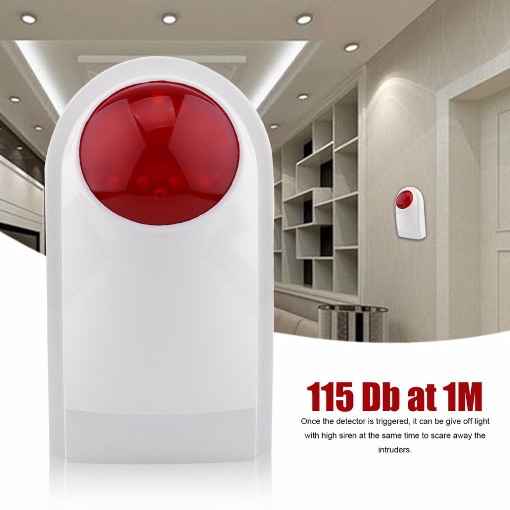 Wired Alarm Outdoor Waterproof Flash Siren Sound Strobe Flash Alarm Siren 115 dB For Wif GSM PSTN Home Security Alarm System kerui wireless alarm outdoor waterproof flash siren sound strobe flash alarm siren for wifi gsm pstn home security alarm system