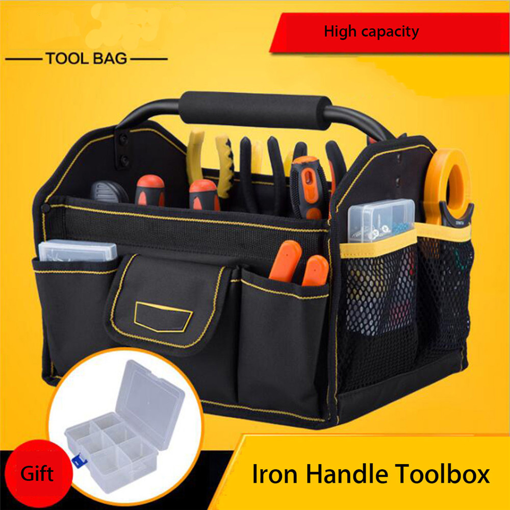 Oxford Cloth Electrician Tool Bags Thicken Hardware Professional Electrician Repair Storage Work Bag Holder Close Top Wide Mouth 1 pcs tool kit pack hardware repair kit tool bag electrician work multifunction durable mechanics oxford cloth bag organizer bag