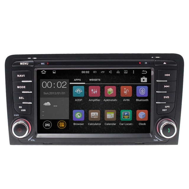 """7 """"HD DVD Player Do Carro de Navegação Android 5.1 Para Aud i A3 Com GPS Blurtooth Multimídia Invertendo Câmera swc USB MP3"""