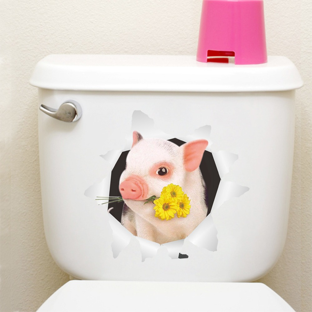 Cute cartoon 3D piggy Zodiac wall stickers for kids rooms new decorations home decor living room decoration accessories decals