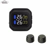 ONEWELL Original Engine Tire Pressure Monitoring System Wireless TPMS Motorcycle Tire Alarm 2 External Sensor Moto
