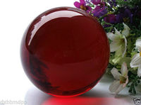 Xd J00791 40mm Asian Rare Natural Quartz Red Magic Crystal Healing Ball Sphere Stand 5pc