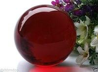 Xd J00791 40mm Asian Rare Natural Quartz Red Magic Crystal Healing Ball Sphere Stand 5pc