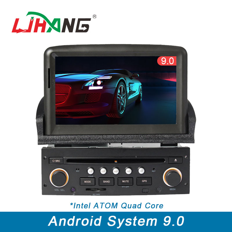 LJHANG 1 Din Car DVD Player Android 9 0 for Peugeot 307 Bluetooth Steering Wheel Control
