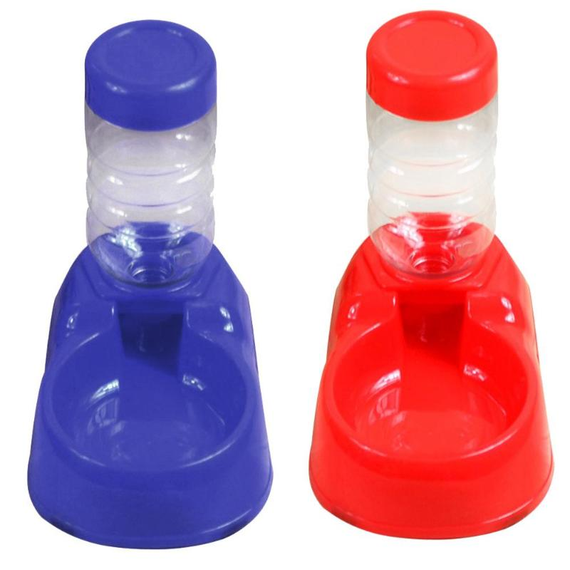 350ml Automatic Dog Feeder Drinking Water Dispenser Food Plastic Bowl Bottle Dog Cat Feeder Pet Products Dish Bowl Feeder