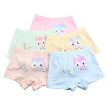Kids Panties Cute Cartoon Fox Boxers Children Underwear Briefs Girls Modal Shorts Cotton Underpants Suitable for 1-8 years old недорого