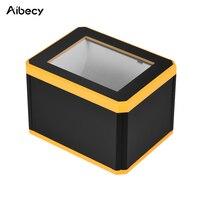 Aibecy Omnidiretional штрих-код платформа для сканера 1D/2D/QR сканер для считывания штрих-кода Презентация с интерфейсом USB для магазина QR