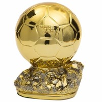 25cm 1:1 Ballon D'Or Resin Replica Trophy World Footballer Of The Year 2018 19 World Football ACE MVP Best Player Champions Cup