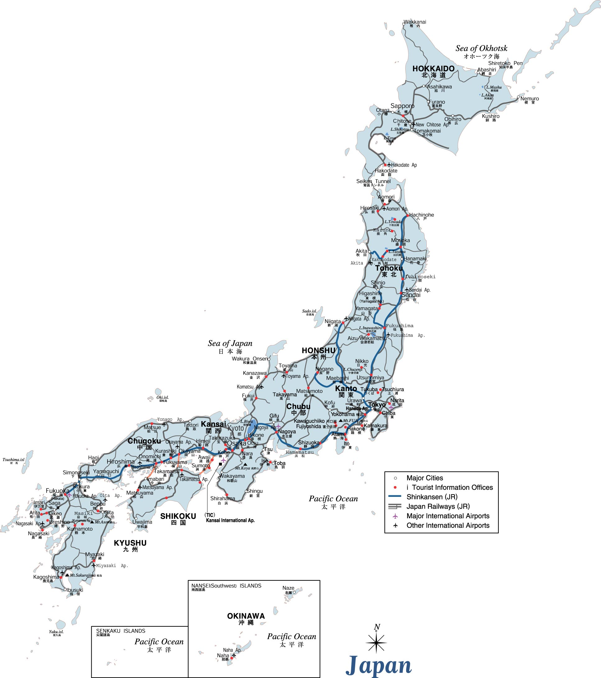 Map Of Japan High Resolution Standard Japanese Maps Poster
