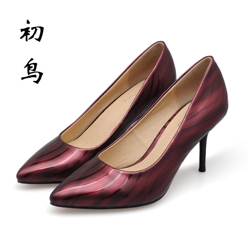 2017 Size 34-41 Fashion Wine Red Water Ripples Sexy High Heels Women Pumps Ladies Shoes Woman Chaussure Femme Talon Mariage 2017 size 31 43 red sexy high heels women pumps ladies shoes woman wedding shoes chaussure femme talon black white 32 33 34 42