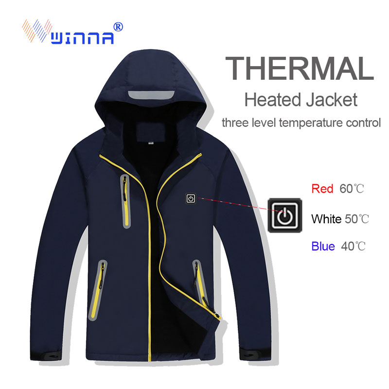 2020 Winter Heated Jacket Men Women Outdoor Sport Polar Coats Fleece Jacket Skiing Trekking Camping Hiking Clothing