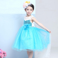 2017 Special Offer New Jersey Ankle-length Girls Clothes Princess Dress Kid Baby Girl Cosplay Cousume/perform Party For Shipping