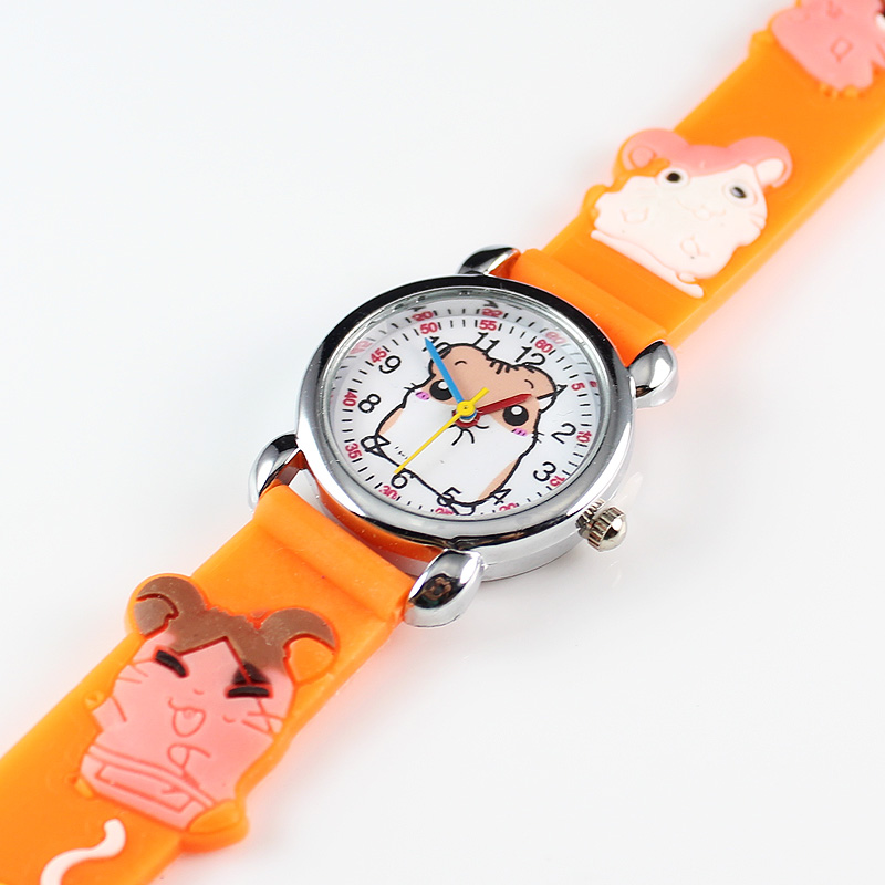 New Fashion 3D Silicon Cartoon Character Kids Watch For Boys Girls Electronics Wrist Watches Children Watch (10 Pieces)