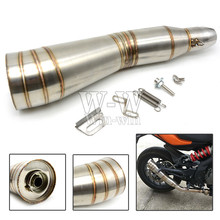 цена на universal motorcycle accessories exhaust pipe For kawasaki z750 z800 z1000 er6n ninja 300 versys 650