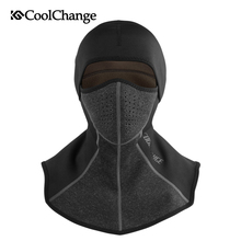 CoolChange Windproof Face Mask Winter Cycling Cap Fleece Thermal Keep Warm Bicycle Skiing Hat Cold Headwear Bike Face Mask Scarf недорого