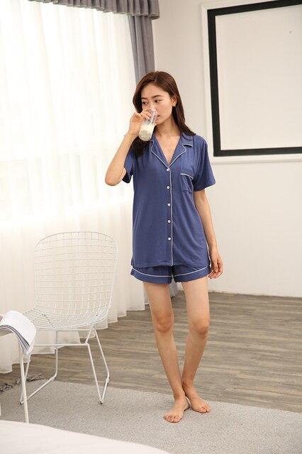 621d139fef5 Free shpping Women sleepwear Summer Shorts Sets Sleepwear Cotton Nightwear  in women s Pajamas sets Sexy Nighty