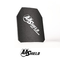 AA Shield Bullet Proof Ultra Light Weight Hard Plate Body Armor Inserts Safety Shooter Cut NIJ