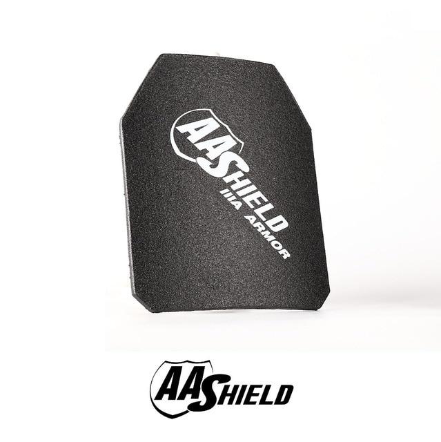 AA Shield Bullet Proof Ultra-Light Weight Hard Plate Body Armor Inserts bulletproof Ballistic Military Armour NIJ IIIA 10x12