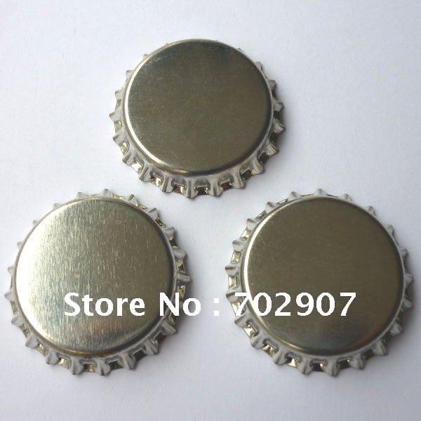 И: 1000 шт 1 дюйм серебряные безворсовые крышки для бутылок для поделок своими руками