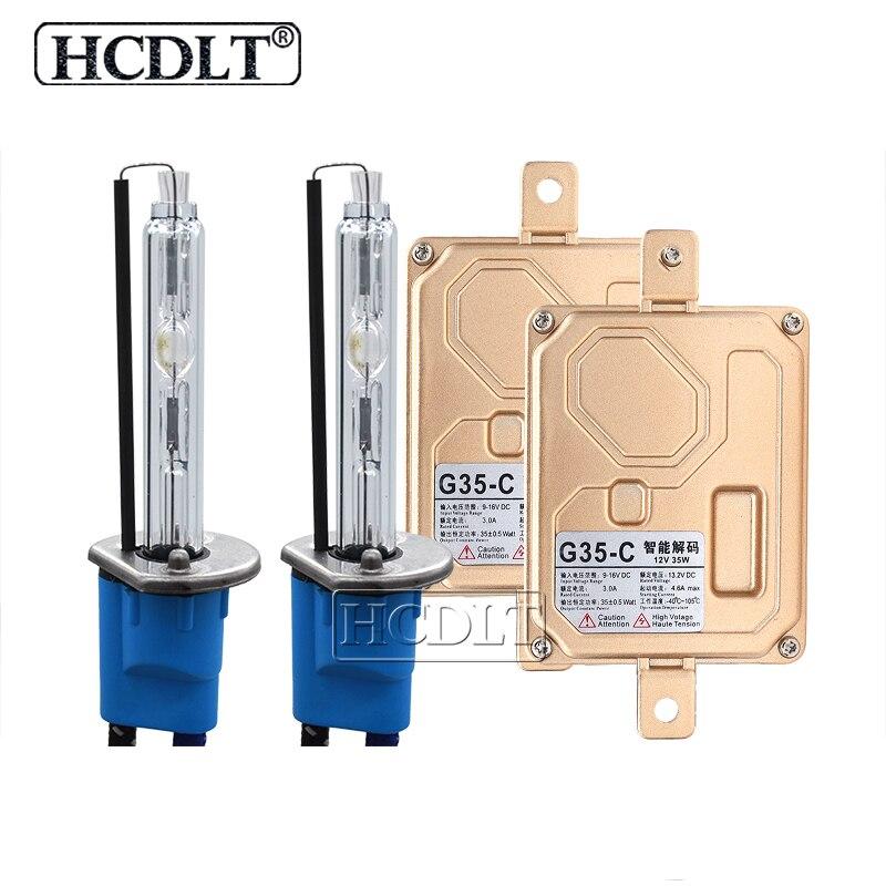 HCDLT 35 W H7 Canbus CACHÉ Kit Xénon D2H H1 H3 H7 H11 HB3 HB4 9012 5500 K Ampoule Au Xénon Lampe 35 W Canbus Ballast Phare De Voiture HID Kit