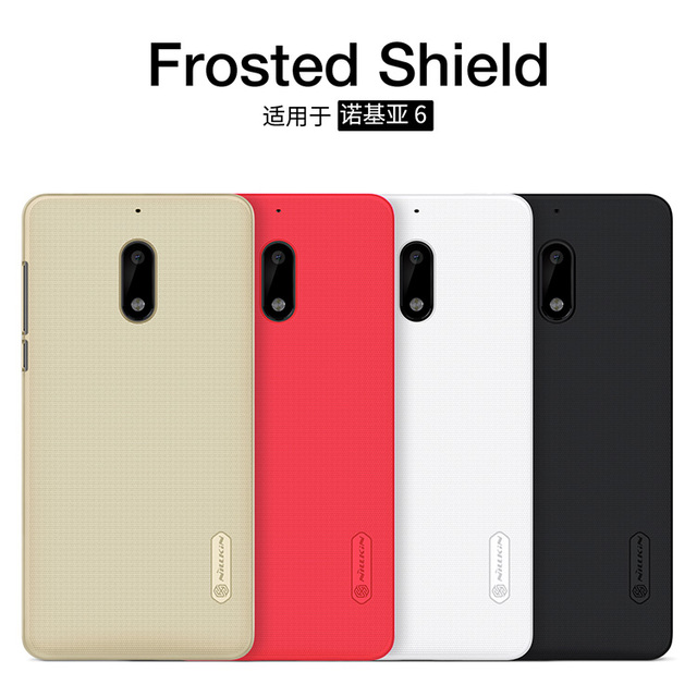 hot sales b985f 0c29e US $6.79 15% OFF For Nokia 6 Case 5.5 inch NILLKIN Super Frosted Shield  Hard Back Cover case For Nokia6 mobile phone bags With screen protector-in  ...