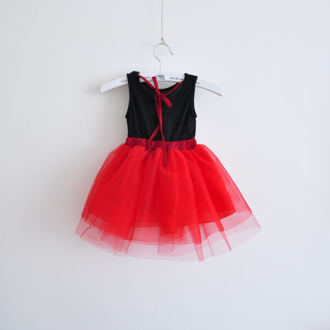 8be95d171 Meninas Vestido de Verão crianças Coreanas vestido véu tutu vestido de  princesa roupas para crianças