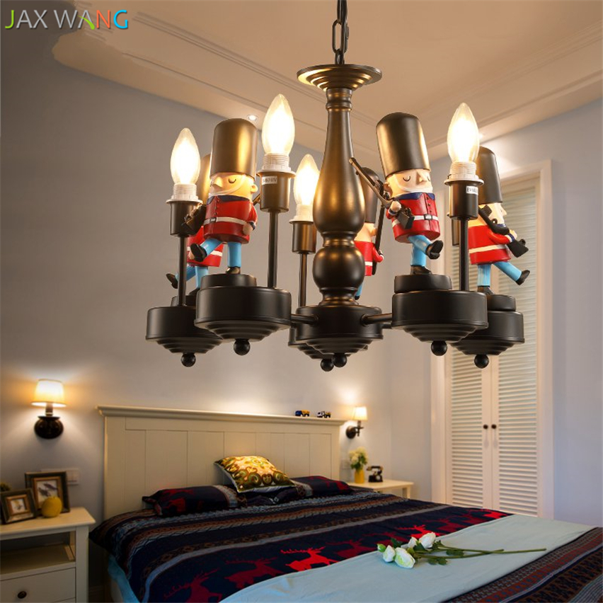 Скандинавский современный британский солдат подвесные светильники светодиодные подвесные лампы детская комната спальня мальчика девочки осветительные приборы для внутреннего использования Декор - 5