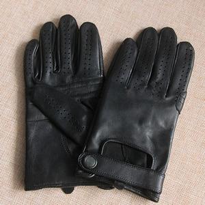 Image 4 - Ilkbahar yaz erkek hakiki deri eldiven 2020 yeni dokunmatik ekran eldiveni moda nefes siyah eldiven koyun derisi eldivenler JM14