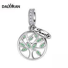 DALARAN 2019 Fashion  Silver 925 Jewelry Sterling Silver Life Tree European Beads Fit Charm Bracelet Necklace For Women DIY цена 2017