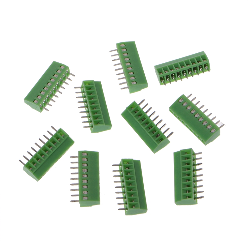 10 Pcs 2Pin-10Pin Screw PCB Mounted Terminal Blocks Connector 2.54mm Pitch