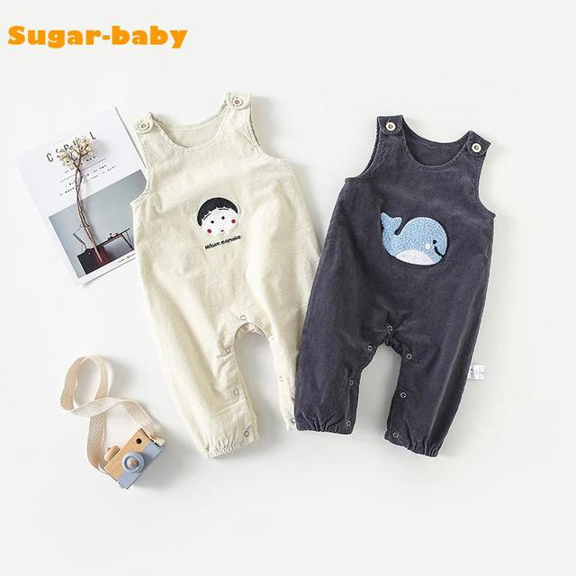 b5947aca7d43 Baby Girl Boy Overalls 2018 Autumn Winter Japan Style Cartoon Cotton ...