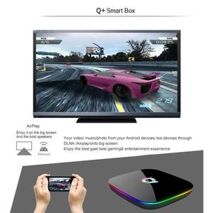Image 2 - Q box Artı Dört Çekirdekli 4 GB + 32 GB Android 9.0 TV 4 K HD akıllı medya oynatıcısı WI FI HDMI sıcak Satış Yüksek kalite