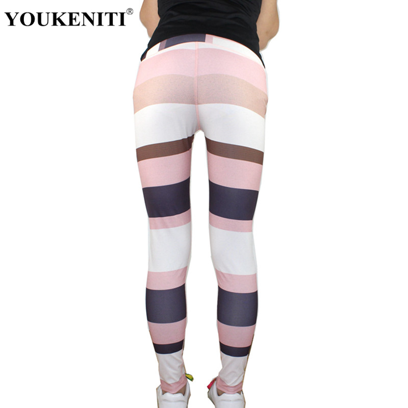 Youkeniti 2018 nuevas mujeres al por mayor leggings push up impresión alta elástico fitness legging para las mujeres pantalones Casuales