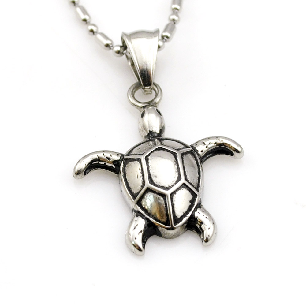 2015 Fashion Gold Silver Classic Animals Turtles Pendant Necklace Cute Little Stainless Steel Jewelry for Women