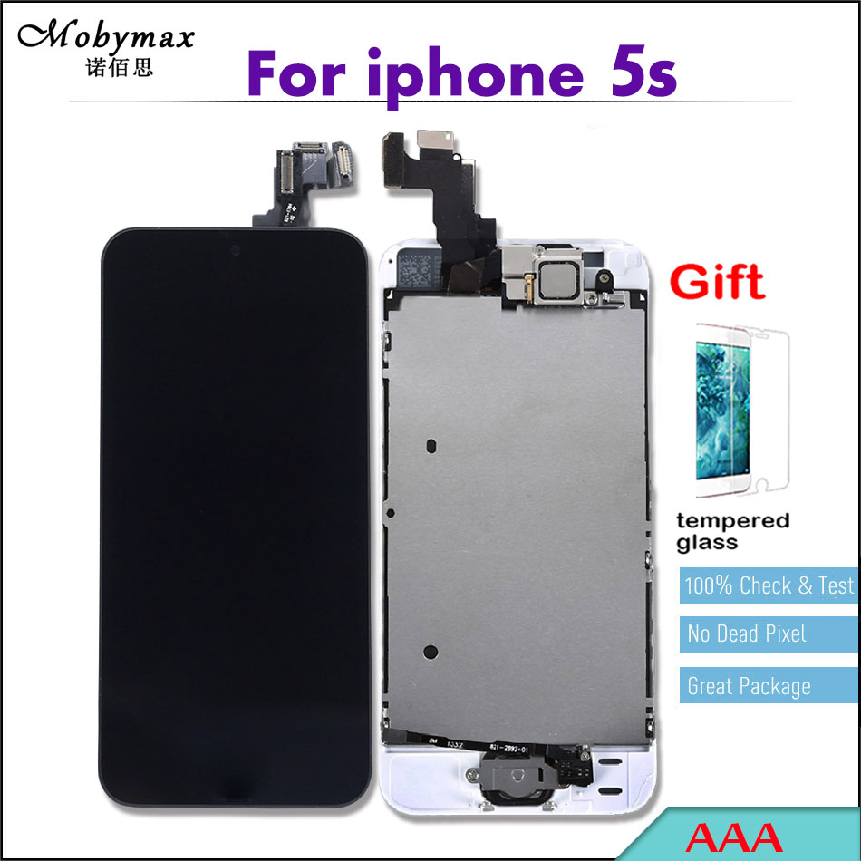 Quality AAA LCD Full Assembly For iPhone 5 5S 5C SE 6 Touch Screen Ecran Pantalla Digitizer Display+Home Button+Front Camera