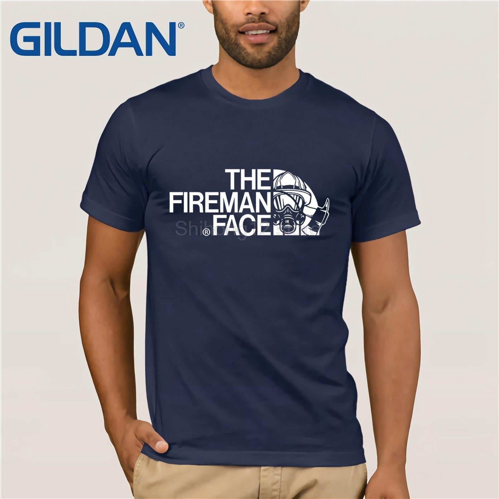 Gildan   t     shirt   2019 Fashion men   t  -  shirt   gildan The Firefighter Face