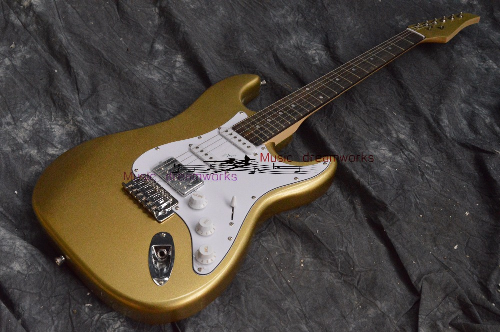 China firehawk OEM shop electric guitar su hr guitar Gold color image